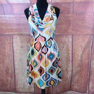Judith March Crowl Neck Sleeveless Dress